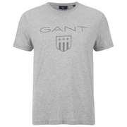GANT Men's Tonal Shield T-Shirt - Light Grey Melange