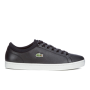 Lacoste Men's Straightset SPT 116 1 Leather Trainers - Navy
