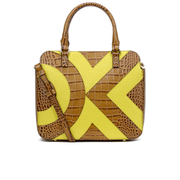 Orla Kiely Women's Small Jeanie Tote Bag - Tan Croc/Lemon