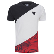 Good For Nothing Men's Rose Cryptic T-Shirt - White/Black/Red