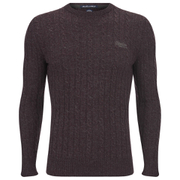 Superdry Men's Harrow Cable Knit Jumper - Loganberry