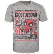 Marvel Deadpool Chimichanga Pop! T-Shirt - Grey
