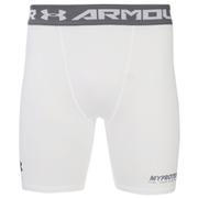 Under Armour Men's Heatgear Compression Shorts – White