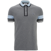 Lacoste Men's Short Sleeve Ribbed Collar Polo Shirt - Stone Chine