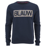 Scotch & Soda Men's Blauw Logo Sweatshirt- Blue