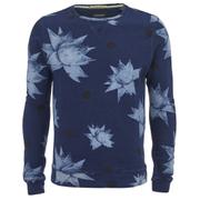 Scotch & Soda Men's Printed Sweatshirt - Blue