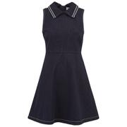 REDValentino Women's Collar Denim Dress - Blue