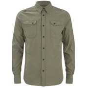 Nudie Jeans Men's Gunnar Long Sleeve Shirt - Olive
