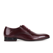 Ted Baker Men's Billay 3 High-Shine Leather Derby Shoes - Dark Red