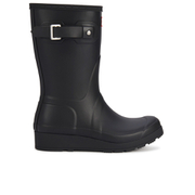 Hunter Women's Original Short Wedged Sole Wellies - Black