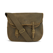 Barbour Men's Laird Leather Tarras Messenger Bag - Olive