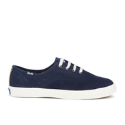Ked's Women's Triumph Sport Perforated Suede Trainers - Navy