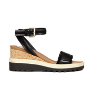See by Chloe Women's Leather Wedged Sandals - Black