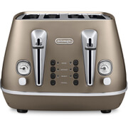 DeLonghi CTI4003.BZ Distinta 4 Slice Toaster - Bronze Finish
