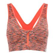 Reggiseno Sportivo Medio Sostegno con Zip Frontale Myprotein da Donna - Arancione Melange