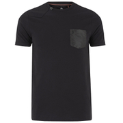 Luke Men's Chump Patch Pocket Detail Crew Neck T-Shirt - Jet Black