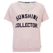 Maison Scotch Women's Short Sleeve Sweatshirt with Text Print - Pink