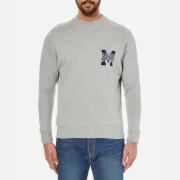 Maison Kitsuné Men's College Logo Sweatshirt - Grey Melange
