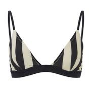 Solid & Striped Women's The Morgan Bikini Top - Black & Cream Stripe