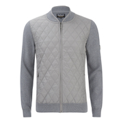 Barbour International Men's Endo Zip Through Knit Cardigan - Grey
