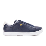 Puma Men's Tennis Court Star Crafted Low Top Trainers - Peacoat/White
