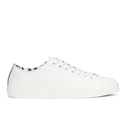 Paul Smith Shoes Men's Indie Vulcanised Trainers - White Mono