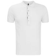 Versus Versace Men's Placket Detail Polo Shirt - White