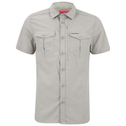 Craghoppers Men's Nosilife Adventure Short Sleeve Shirt - Parchment