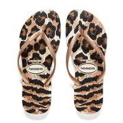Havaianas Women's Slim Animals Flip Flops - Beige/Rose Gold