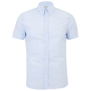 J.Lindeberg Men's Short Sleeve Shirt - Light Blue