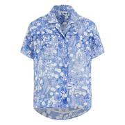 Carven Women's Short Sleeve Shirt - Blue