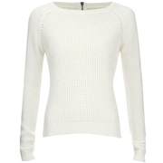 ONLY Women's Ginalu Short Pullover Knit Jumper - Cloud Dancer