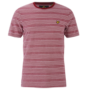 Lyle & Scott Vintage Men's Crew Neck Oxford Stripe T-Shirt - Ruby
