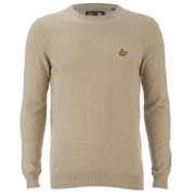 Lyle & Scott Vintage Men's Crew Neck Cotton Merino Jumper - Light Brown