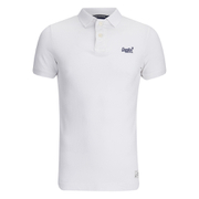 Superdry Men's Vintage Destroyed Polo Shirt - Optic White