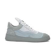 Filling Pieces Men's Wavy Low Top Leather Trainers - Grey