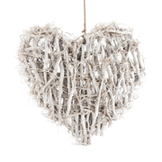 White Woven Root Heart