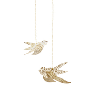 Decorative Hanging Birds - Set of 12