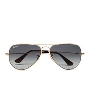 Ray-Ban Men's Large Aviator Sunglasses - Metal Gold