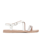 UGG Australia Women's Jordyne Leather Braided Strap Sandals - White Wall