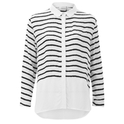Gestuz Women's Deidre Striped Shirt - White/Black