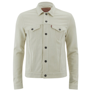 Levi's Men's French Terry Trucker Jacket - Chalky White