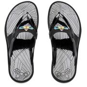 Vivienne Westwood MAN Men's Enamelled Orb Flip Flops - Graphite Black