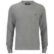 Produkt Men's Textured Crew Neck Sweatshirt - Light Grey Melange