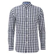 Produkt Men's Long Sleeved Checked Shirt - Navy Blazer
