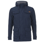 Produkt Men's Cotton Canvas Parka Coat - Navy