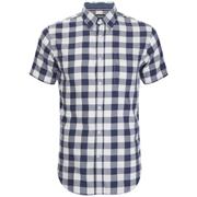 Produkt Men's Short Sleeve Checked Shirt - Navy Blazer