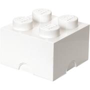 LEGO Aufbewahrungsbox 4 Noppen - Weiß