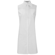 Karl Lagerfeld Women's Bow Blouse Tunic Dress - White