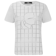 Karl Lagerfeld Women's Karl Head Burn Square Out T-Shirt - White